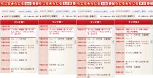 20141205のらじる★らじるの番組表