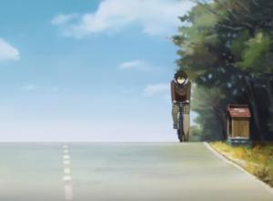 アニメ「氷菓」第22話 左側走行の奉太郎
