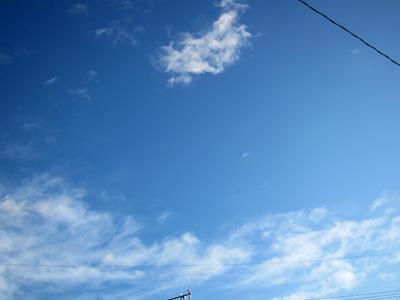 雨上がりの青空