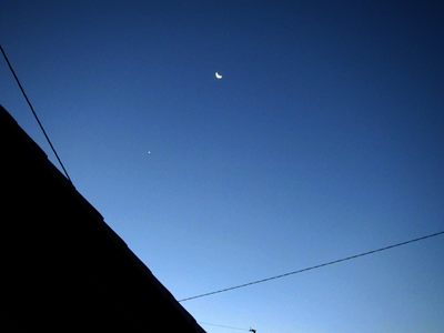 20151207の月と金星