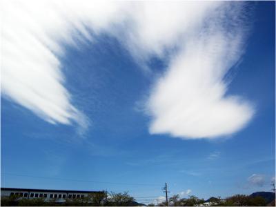 空にハート雲