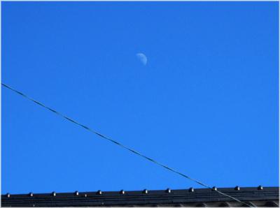 立春に上弦の月